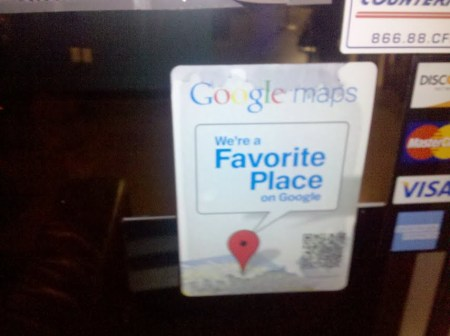 Google Favorite Place sticker for your business window